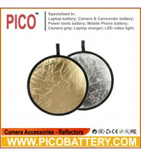 "32"" 80cm 2 in 1 Collapsible Gold Silver Light Reflector For Studio BY PICO"