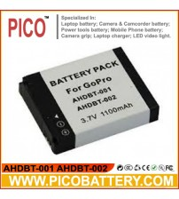 New AHDBT-001 AHDBT-002 Li-Ion Rechargeable Battery for GoPro HD HERO HERO2 Digital Cameras BY PICO