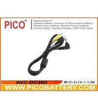 AVC-DC300 Replacement Mini A/V Male to 2 RCA Male A/V Cable for Canon Digital Cameras BY PICO