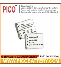 VC BN-VG212 BN-VG212U BN-VG212USM Li-Ion Rechargeable Replacement Battery BY PICO