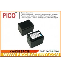 CANON BP-718 Intelligent Li-Ion Rechargeable Battery for Select Canon VIXIA Camcorders BY PICO