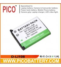 D-LI108 Li-Ion Rechargeable Battery for Pentax Optio LS465, RS1500, and RS1000 Digital Cameras BY PICO