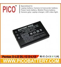 Pentax D-LI2 DL-12 D-L12 Li-Ion Rechargeable Digital Camera Battery BY PICO