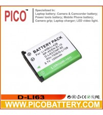 D-LI63 Li-Ion Rechargeable Battery for Pentax Optio Cameras BY PICO