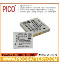 Pentax D-LI85 / D-LI95 Li-Ion Rechargeable Digital Camera Battery for Optio E65 E75 E85 M85 BY PICO