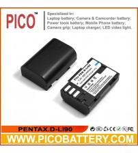 D-LI90 Li-Ion Rechargeable Battery for Pentax K-5 II, K-5 IIS, K-01, K-7, K-5, K-3, 645D, and 645Z SLR Cameras BY PICO