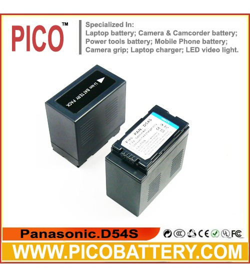Panasonic CGA-D54 Lithium-Ion Battery Pack NEW 7200 MAH BY PICO