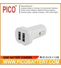 Dual USB Car Charger for SmartPhones, Tablets, Cameras, Game Consoles, MP3/4/5 Players, and More Devices BY PICO