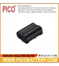 NIKON New EN-EL15 Battery for Nikon D600, D610, D7100, D7000, D800, D800E, D810, & 1 V1 Digital Cameras BY PICO