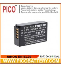 NIKON EN-EL20 Li-Ion Rechargeable Battery for Nikon 1 AW1, J1, J2, J3, S1, and COOLPIX A Advanced Cameras BY PICO