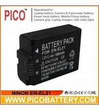 NINON EN-EL21 Li-Ion Rechargeable Battery for Nikon 1 V2 Camera BY PICO