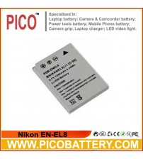 Nikon EN-EL8 Li-Ion Rechargeable Digital Camera Battery BY PICO