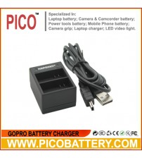 Dual USB Charger for GoPro HERO3 and HERO3+ AHDBT-301 / AHDBT-302 Camera Batteries BY PICO