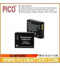 IA-BH125C Li-Ion Rechargeable Battery for Samsung HMX-R10 Camcorders BY PICO