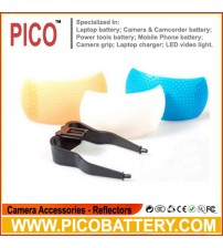3 Color Pop-up Folding Flash Diffuser for Digital Camera BY PICO