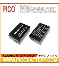 CANON LP-E12 Li-Ion Rechargeable Digital Camera / Camcorder Battery BY PICO