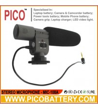 MIC-108A Stereo Microphone for DSLR Cameras and Camcorders BY PICO