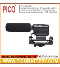 MIC-121 Stereo Microphone for DSLR Cameras and Camcorders BY PICO