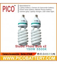 NEW PHOTOGRAPHIC EQUIPMENT 5500K bulb for Energy Saving two lamp holder 150w 2pcs BY PICO