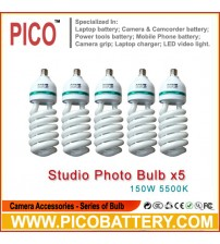 NEW PHOTOGRAPHIC EQUIPMENT 5500K bulb for Energy Saving two lamp holder 150w 5pcs BY PICO