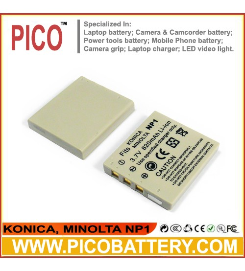 KonicaMinolta NP-1 Li-Ion Rechargeable Digital Camera Battery BY PICO