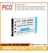 Casio NP-20 NP-20DBA Li-Ion Rechargeable Digital Camera Battery BY PICO