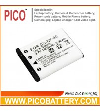 CASIO NP-80 NP-82 NP-80DBA NP-82DBA Li-Ion Rechargeable Digital Camera Battery for Select Casio Exilim Cameras BY PICO