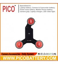 Pro Red table 3-wheel Camera Dolly Skater BY PICO