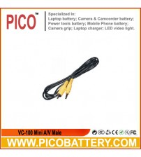 VC-100 Mini A/V Male to RCA Male Video Cable for Canon Digital Cameras BY PICO