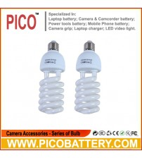 photographic equipment 5500K bulb for Energy Saving two lamp holder 45w 2pcs BY PICO